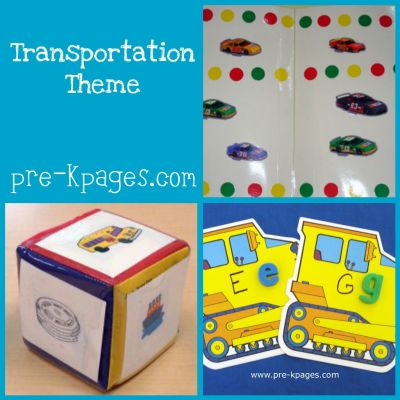 Transportation preschool theme activities pre k pages for Transportation crafts for preschoolers